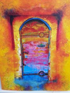 coloured door