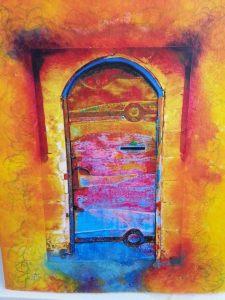 coloured door